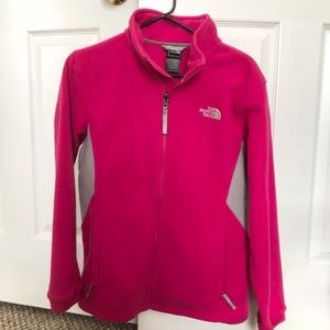 Bright pink North Face jacket. Worn a few times!